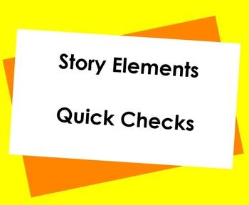 Story Elements Notebook Checks
