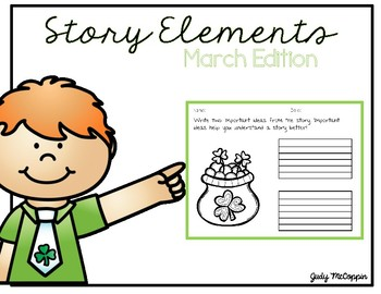 Story Elements Organizer for March (English Edition)