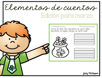 Story Elements Organizer for March (Spanish Edition)