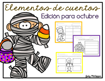 Story Elements Organizer for October (Spanish Edition)