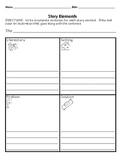 Story Elements Organizer for Primary