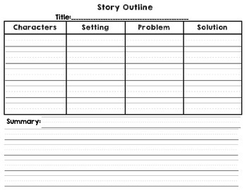 Story Elements Outline