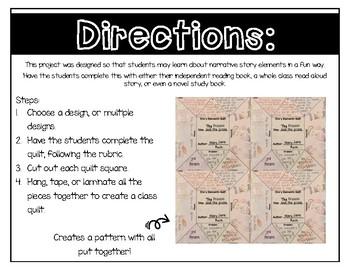 Story Elements Paper Quilt Project