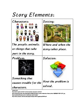 Story Elements (Parts of a story)