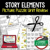 Story Elements Picture Puzzle Study Guide Test Prep (English ELA)