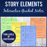 Story Elements Pixanotes® (Picture Notes) + Dominoes Game!