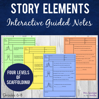 Story Elements Pixanotes™ (Differentiated Picture Notes) +
