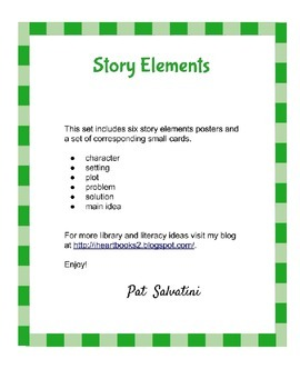Story Elements Poster & Card Set