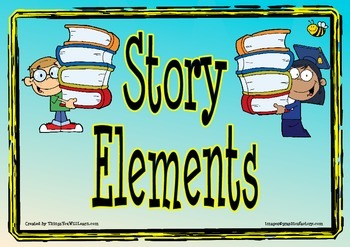 Story Elements Posters (Blue)