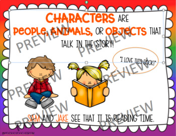 Story Elements Poster Printables