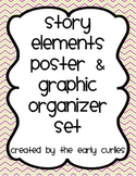 Story Elements Poster Set with Graphic Organizers