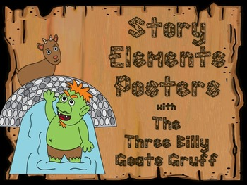 Story Elements Posters  with Three Billy Goats Gruff