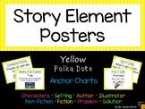 Story Elements Posters Anchor Charts ~ Yellow Polka Dot ~