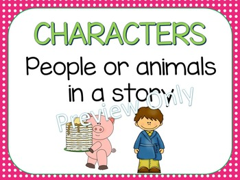 Story Element Posters ~ Pink Polka Dots