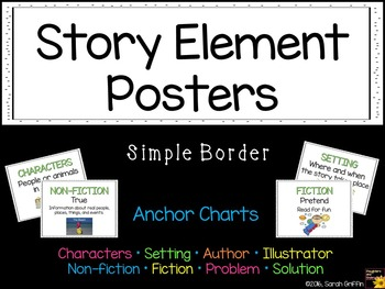 Story Elements Posters ~ Anchor Charts ~ Simple