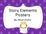 Story Elements Posters- Bright Polka Dots
