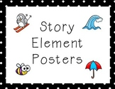 Story Elements Posters- Character, Setting, Plot, Theme, C