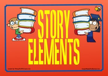 Story Elements Posters (Red)