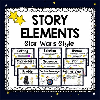 Story Elements Posters Star Wars Style