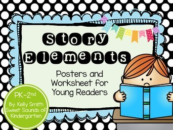 Story Elements- Posters & Worksheet FREEBIE!!