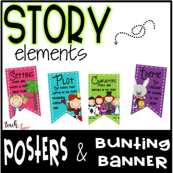 Story Elements Posters and Bunting Banner