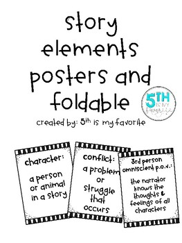 Story Elements Posters and Foldable