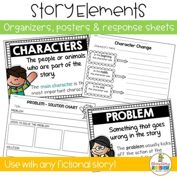 Story Elements Graphic Organizers and Posters