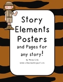 Story Elements Posters and Practice! Tiger (zoo theme)