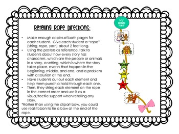 Story Elements Posters and Retelling Rope