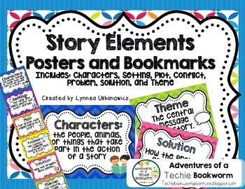 Story Elements- Posters and bookmarks