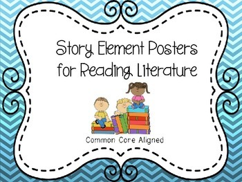 Story Elements Posters for Reading Literature