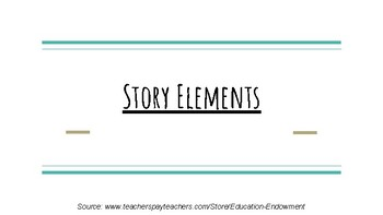 Story Elements PowerPoint (PDF)