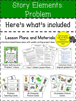 Story Elements: Problem AND Solution BUNDLE-A Comprehension Through Writing Unit