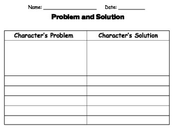 Story Elements: Problem and Solution