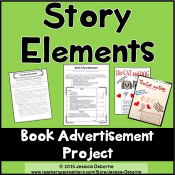 story elements project book advertisement