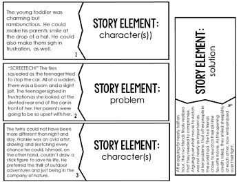 Story Elements Puzzles   4th and 5th Grade Reading Center