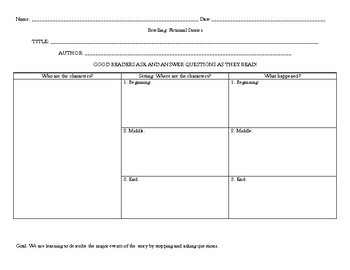 Story Elements Question Activity