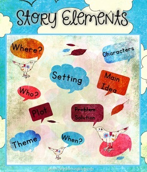 Story Elements Comprehension Check for Understanding Freebie