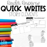 Reading Response Quick Writes   Reading Response Worksheet