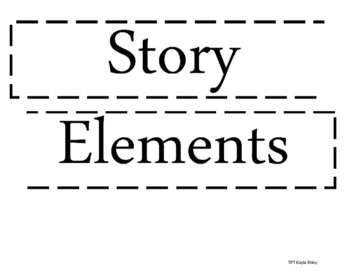 Story Elements Reading Board Template
