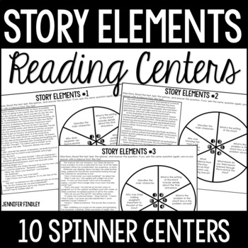 Story Elements Reading Centers | 4th and 5th Grade Reading Spinner Centers