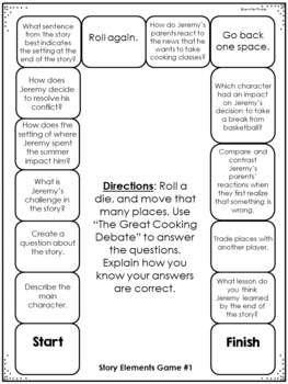 Story Elements Reading Games | Reading Centers for Story Elements