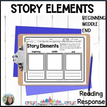 Story Elements : Reading Response Graphic Organizer for Comprehension