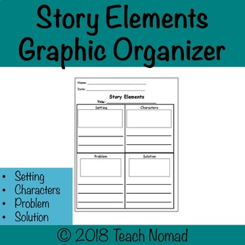Story Elements Reading and Writing Graphic Organizer