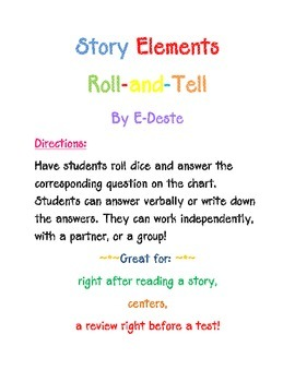 Story Elements Roll-And-Tell Game