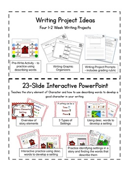 Story Elements: Setting - A Comprehension Through Writing Unit - Rocky Raccoon
