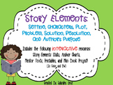 Story Elements- Setting, Characters, Plot, Problem, Solution, and More!