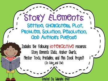 Story Elements- Setting, Characters, Plot, Problem, Soluti