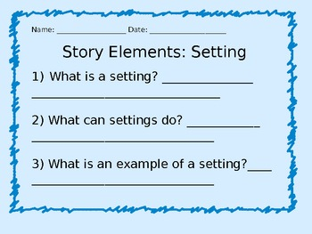 Story Elements: Setting Power Point