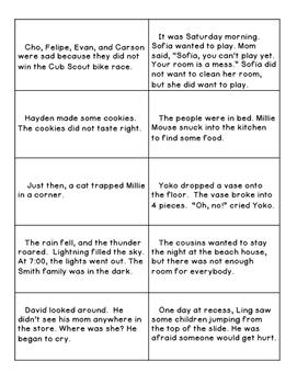 Story Elements Sort